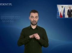 Powiększ obraz: Bernard Kinow tłumaczy dla prezydent.pl