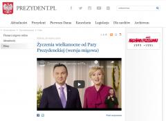 Powiększ obraz: Tłumaczenie PJM na stronie prezydent.pl Andrzej Duda
