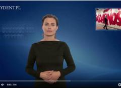 Powiększ obraz: Małgorzata Limanówka tłumaczy dla prezydent.pl