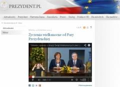 Powiększ obraz: Tłumaczenie PJM na stronie prezydent.pl Bronisław Komorowski