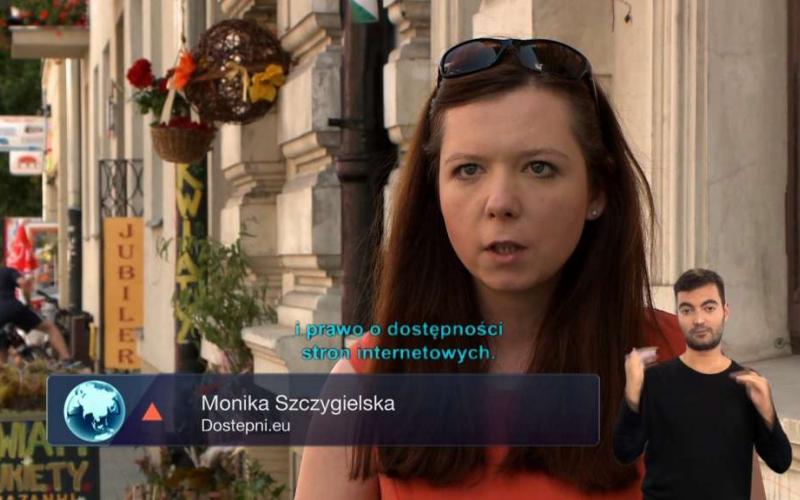 Monika Szczygielska-kadr z programu GLOB z napisami i PJM